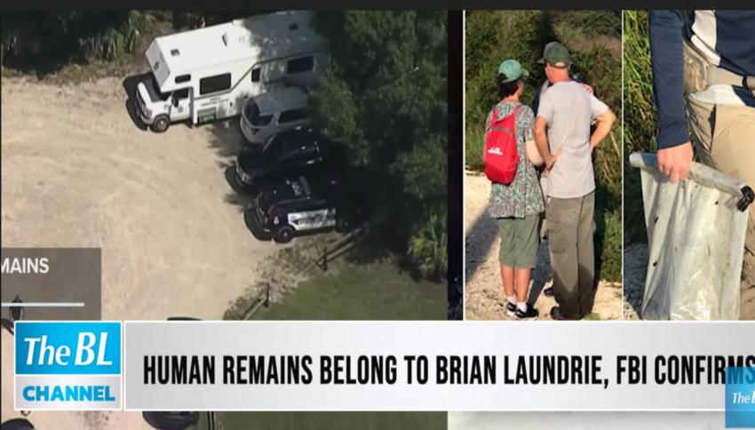 Human remains belong to Brian Laundrie, FBI confirms
