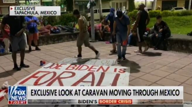"""MASSIVE ILLEGAL CARAVAN Marches Through Mexico with """"Joe Biden Is for All"""" Sign on Way to Open US Border (VIDEO)"""