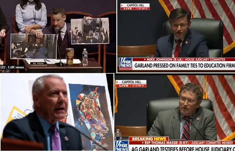 BRAVO! GOP Reps Jordan, Johnson, Steube, Biggs, Gohmert, Spartz, Massie, Gaetz, Chabot, McClintock and Ken Buck DESTROY AG Garland at House Hearing (VIDEO)