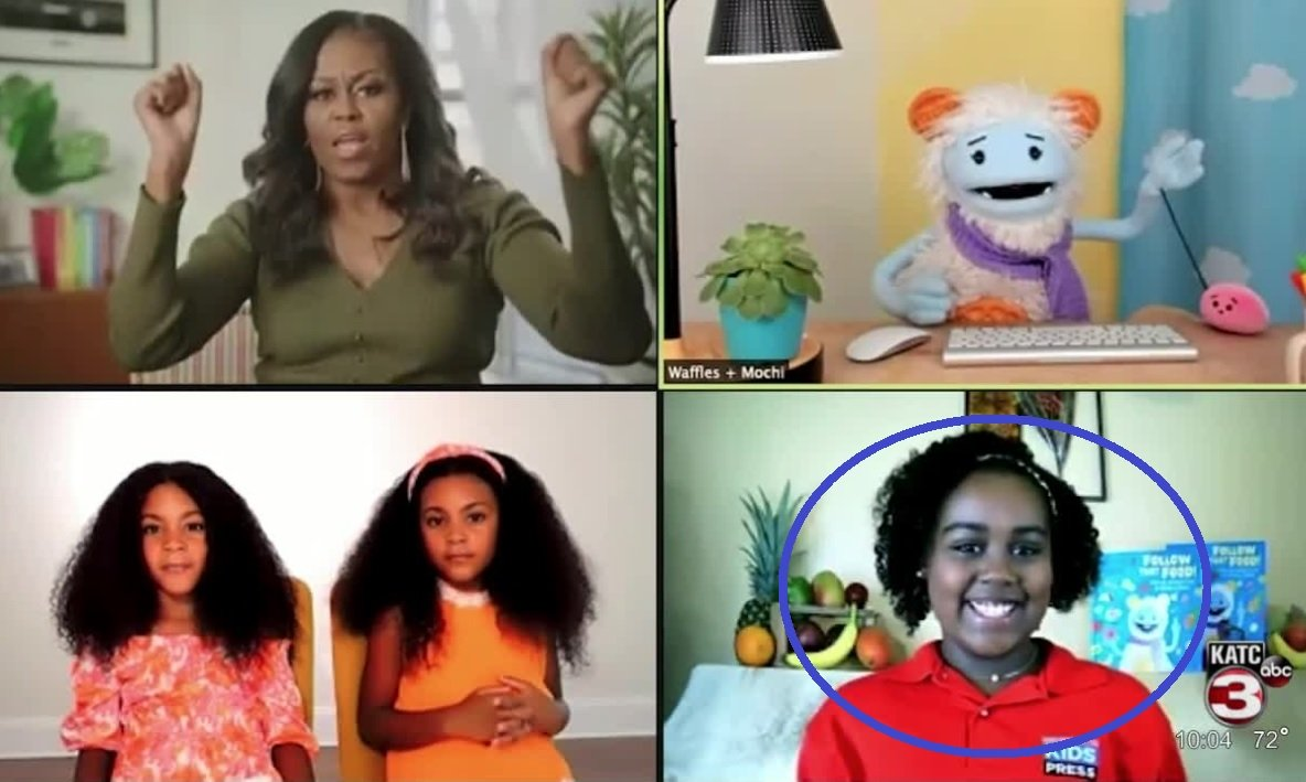She's a Regular: Child Actor in Kamala Harris's Space Video Starred in Video Earlier This Year with Michelle Obama